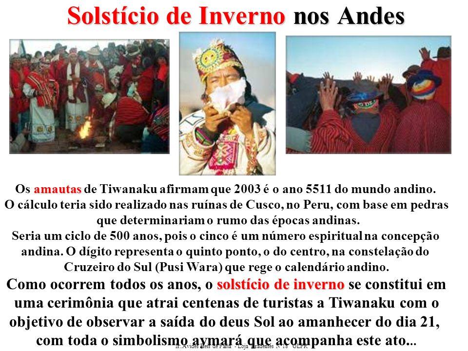 Ir:.Avides Reis de Faria - Loja Tiradentes Nº18 GLPR Solstício de Inverno nos Andes ¡Willka Tata, Inti Tata.