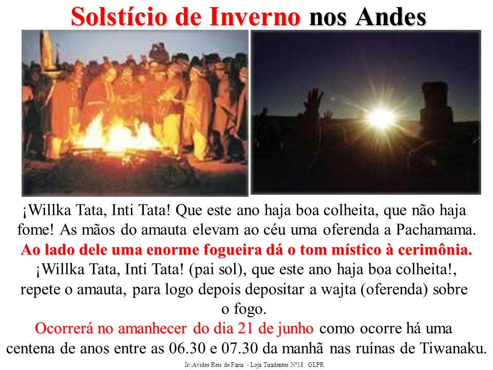 Ir:.Avides Reis de Faria - Loja Tiradentes Nº18 GLPR SOLSTÍCIOS Maçonaria Os SOLSTÍCIOS e a Maçonaria