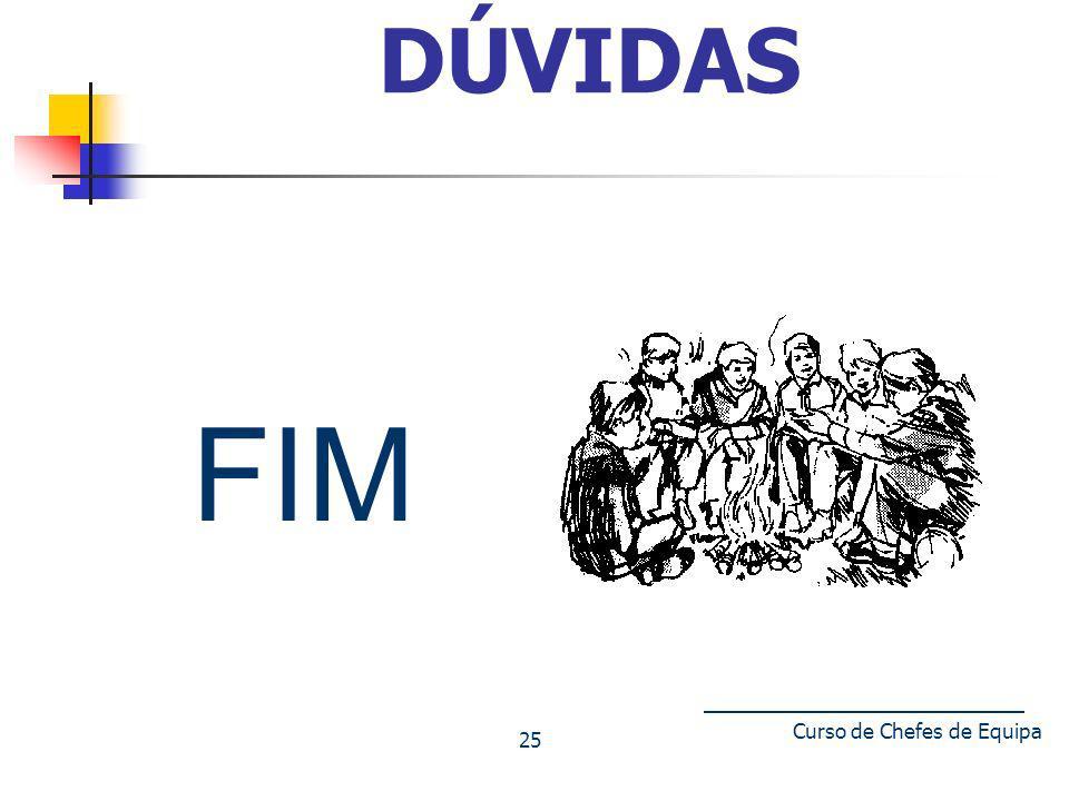 Curso de Chefes de Equipa 25 DÚVIDAS FIM