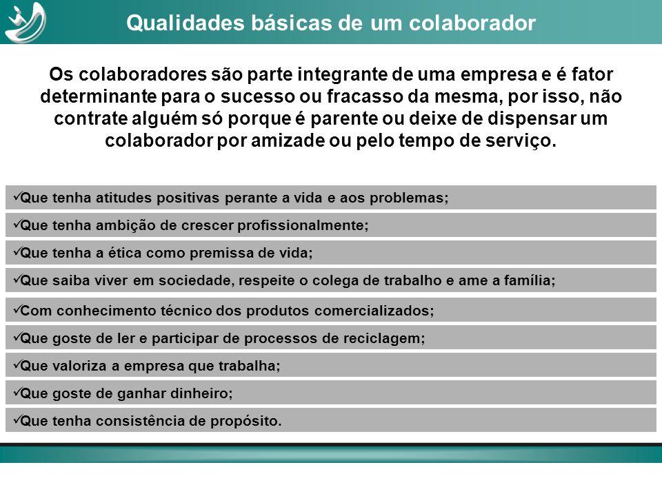 Os colaboradores são parte integrante de uma empresa e é fator determinante para o sucesso ou fracasso da mesma, por isso, não contrate alguém só porq