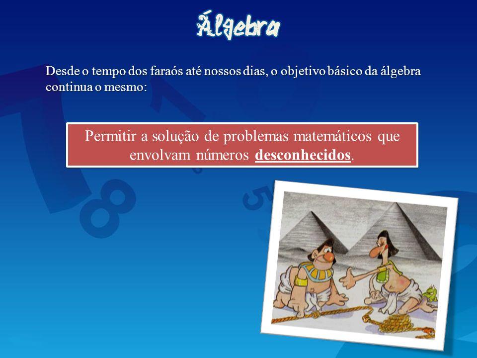 Permitir a solução de problemas matemáticos que envolvam números desconhecidos. Desde o tempo dos faraós até nossos dias, o objetivo básico da álgebra