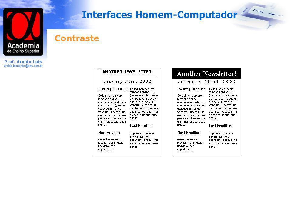 Interfaces Homem-Computador Contraste