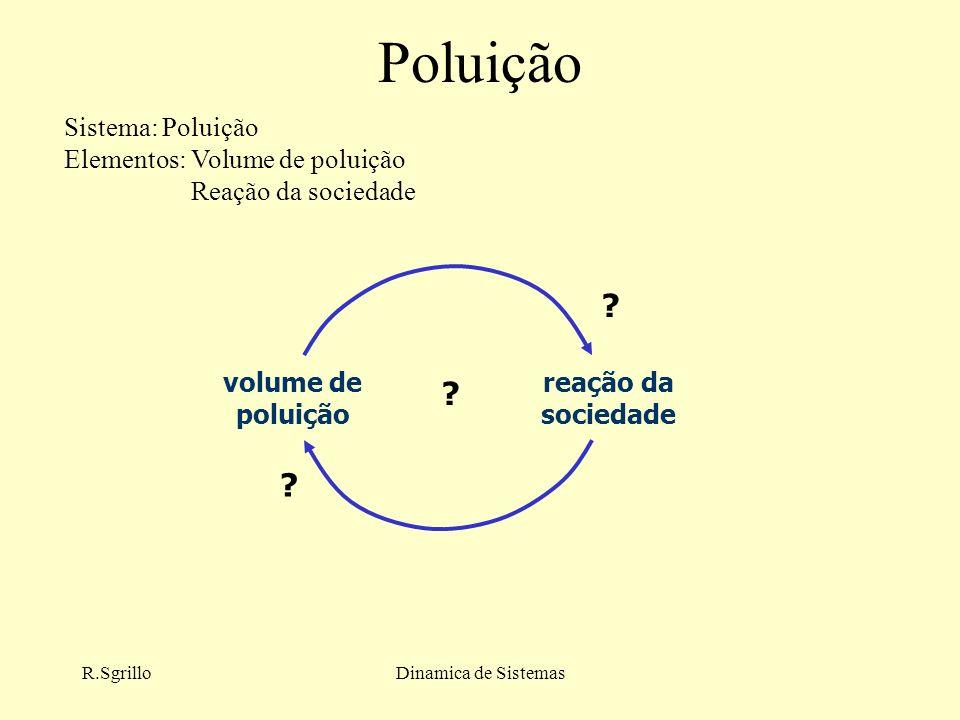 R.SgrilloDinamica de Sistemas Poluição volume de poluição reação da sociedade .