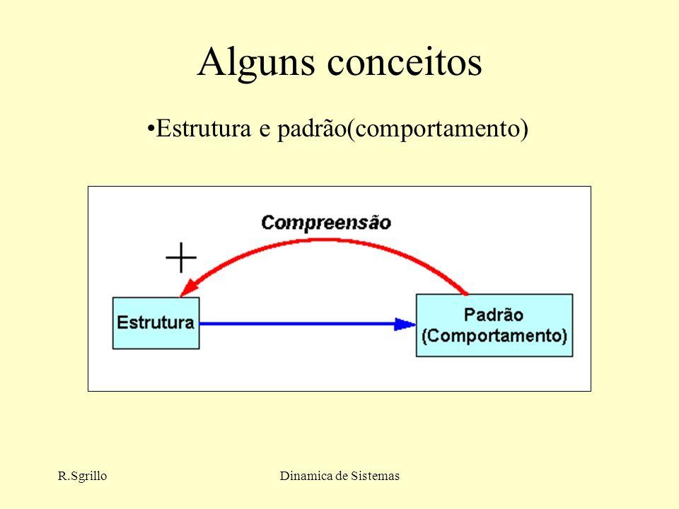 R.SgrilloDinamica de Sistemas Alguns conceitos Estrutura e padrão(comportamento)