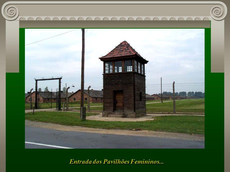 Aqui um outro Campo de Concentração, apenas para mulheres, com dezenas de grandes pavilhões...