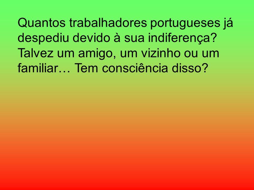 Quantos trabalhadores portugueses já despediu devido à sua indiferença? Talvez um amigo, um vizinho ou um familiar… Tem consciência disso?