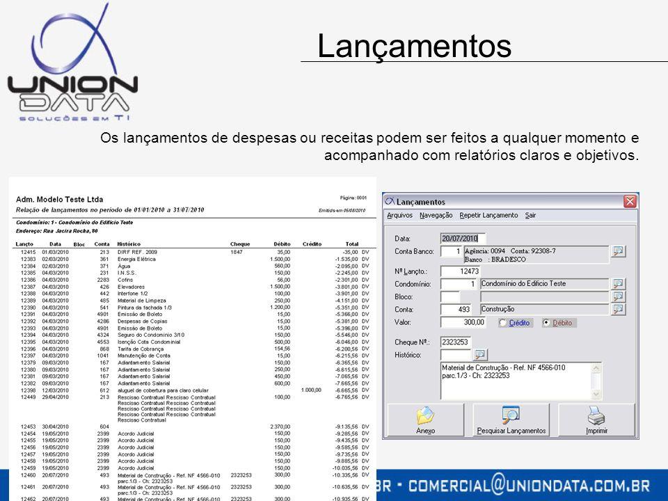 A emissão dos recibos poderá ser realizado na administradora, no banco, ou mesmo em gráficas especializadas nesse tipo de impressão.