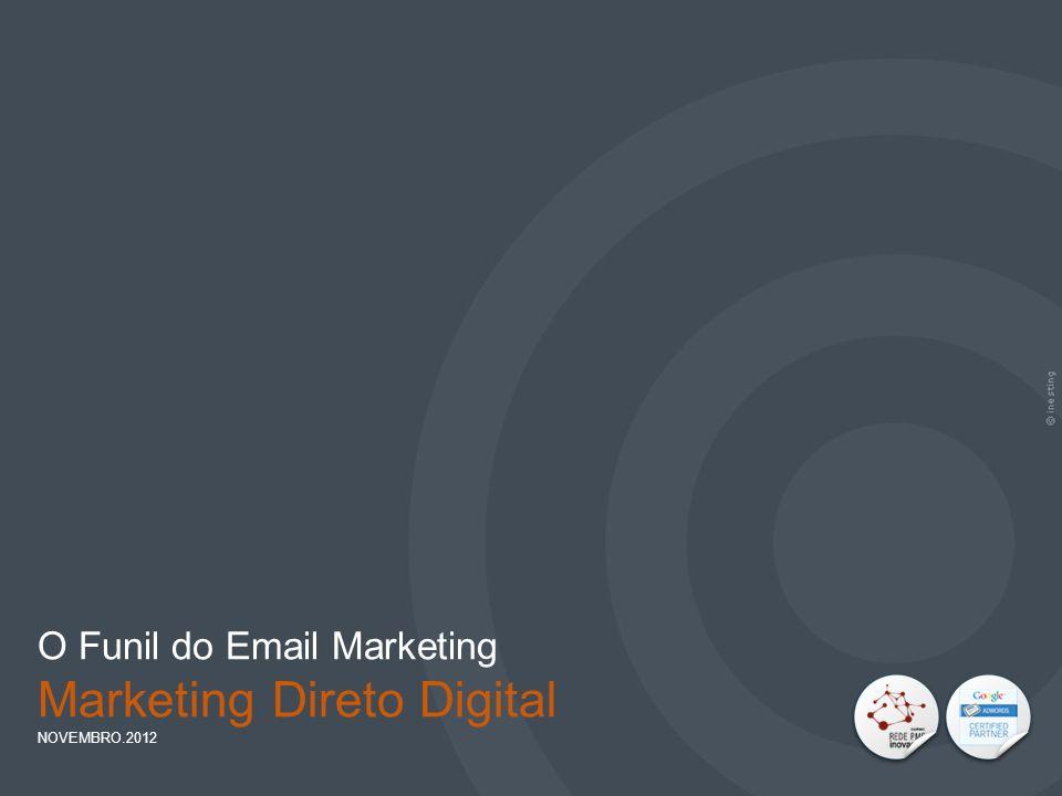IMPORTÂNCIA DO EMAIL MARKETING PAG. 33 O Funil do Email Marketing Marketing Direto Digital NOVEMBRO.2012