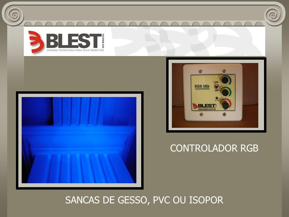 SANCAS DE GESSO, PVC OU ISOPOR CONTROLADOR RGB