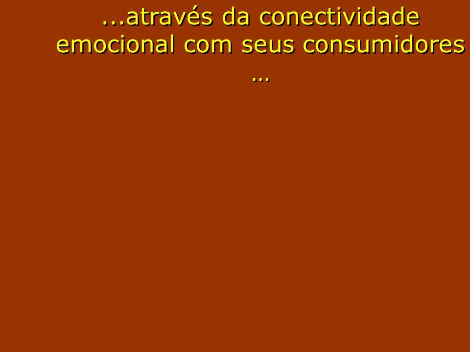 ...através da conectividade emocional com seus consumidores …