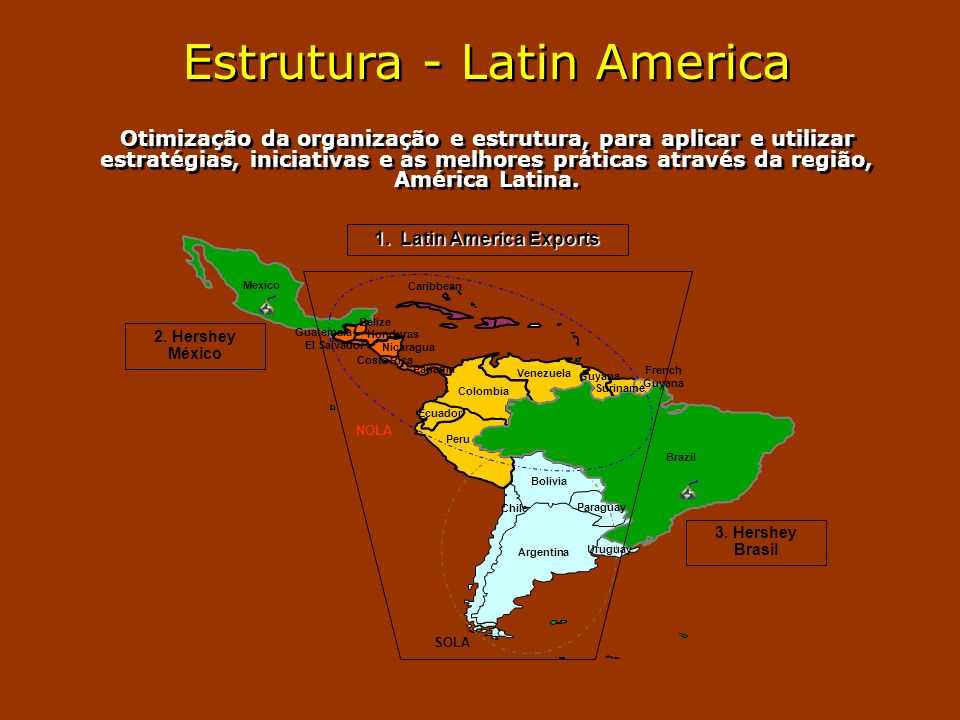 Estrutura - Latin America Otimização da organização e estrutura, para aplicar e utilizar estratégias, iniciativas e as melhores práticas através da re