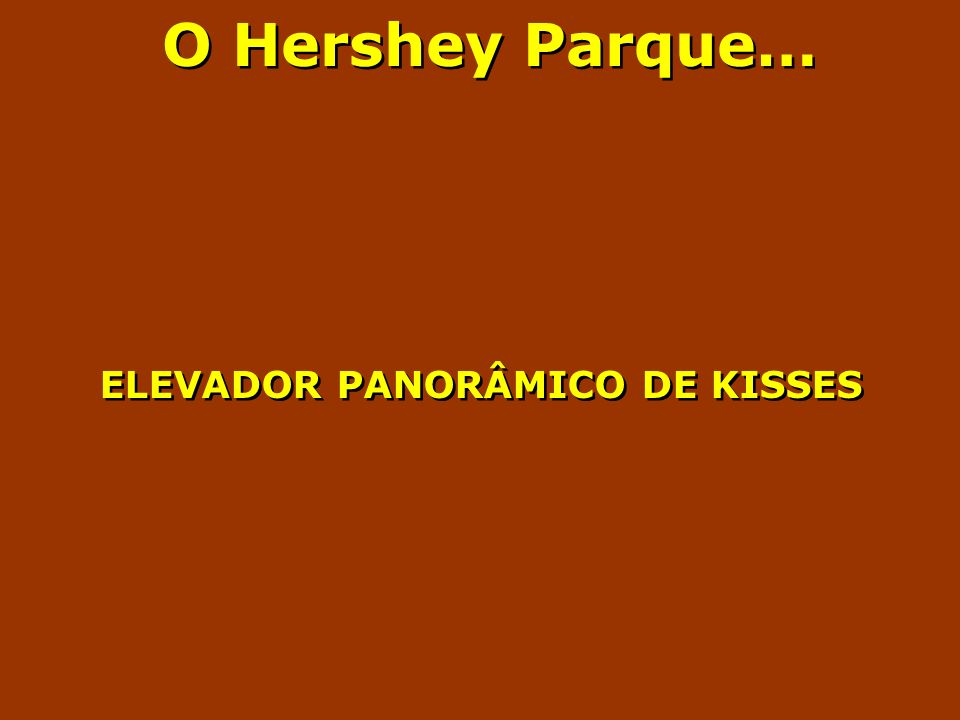 O Hershey Parque… ELEVADOR PANORÂMICO DE KISSES