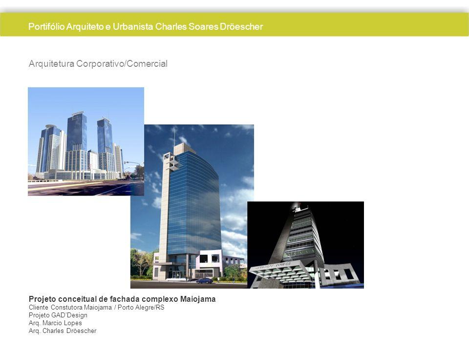 Arquitetura Corporativo/Comercial Projeto conceitual de fachada complexo Maiojama Cliente Constutora Maiojama / Porto Alegre/RS Projeto GADDesign Arq.
