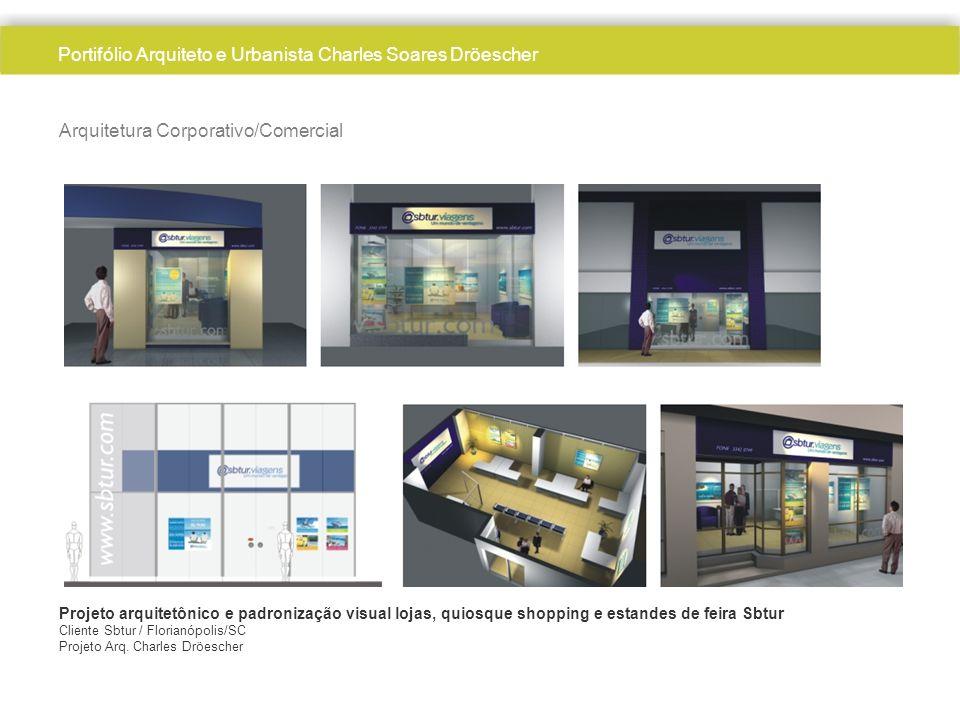 Arquitetura Corporativo/Comercial Projeto arquitetônico e padronização visual lojas, quiosque shopping e estandes de feira Sbtur Cliente Sbtur / Florianópolis/SC Projeto Arq.