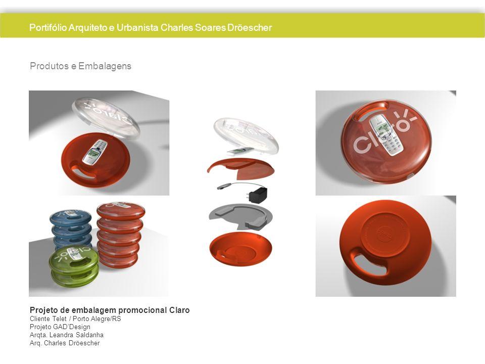 Produtos e Embalagens Projeto de embalagem promocional Claro Cliente Telet / Porto Alegre/RS Projeto GADDesign Arqta. Leandra Saldanha Arq. Charles Dr