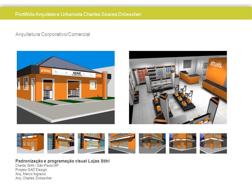 Arquitetura Corporativo/Comercial Padronização e programação visual Lojas Stihl Cliente Stihl / São Paulo/SP Projeto GADDesign Arq. Marco Ingracio Arq