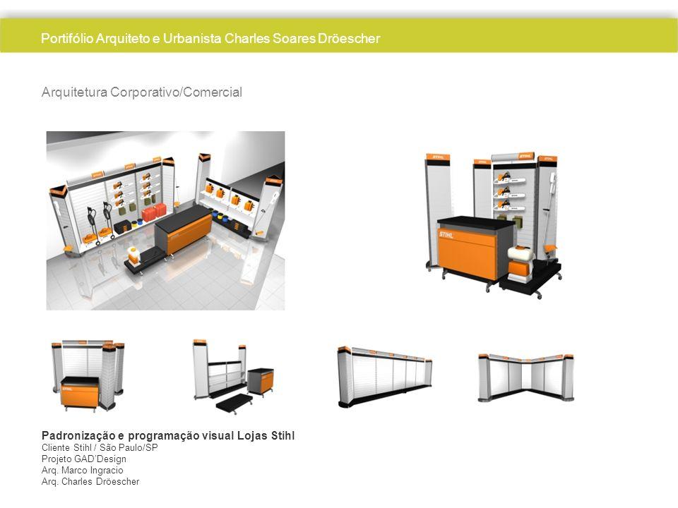 Arquitetura Corporativo/Comercial Padronização e programação visual Lojas Stihl Cliente Stihl / São Paulo/SP Projeto GADDesign Arq.