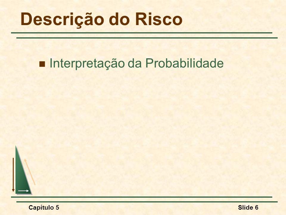 Capítulo 5Slide 6 Descrição do Risco Interpretação da Probabilidade