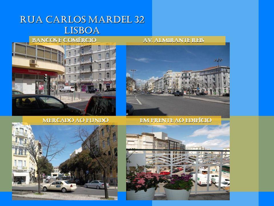 Rua Carlos Mardel 32 Lisboa BanCOS E comércio Av. Almirante Reis Mercado ao fundo em frente ao edifício Mercado ao fundo em frente ao edifício