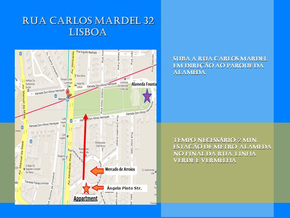 Suba a rua Carlos Mardel em direção ao parque da Alameda. Tempo necessário: 2 min. eStacão de metro:alameda no final da rua. Linha verde e vermelha eS