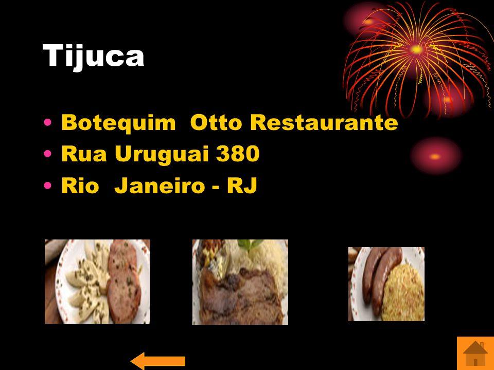 Tijuca Botequim Otto Restaurante Rua Uruguai 380 Rio Janeiro - RJ