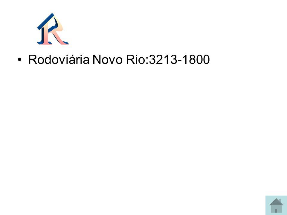Rodoviária Novo Rio:3213-1800