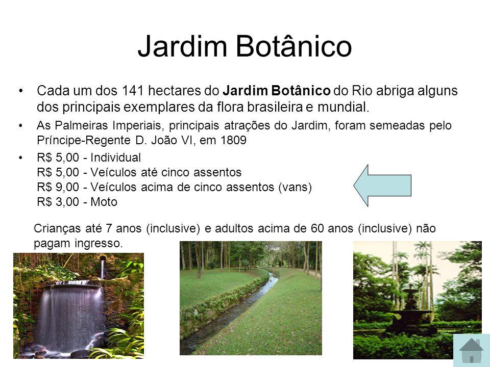 Jardim Botânico Cada um dos 141 hectares do Jardim Botânico do Rio abriga alguns dos principais exemplares da flora brasileira e mundial. As Palmeiras