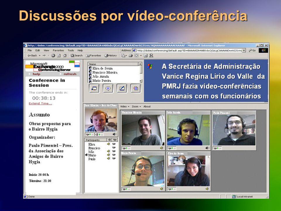 Discussões por vídeo-conferência
