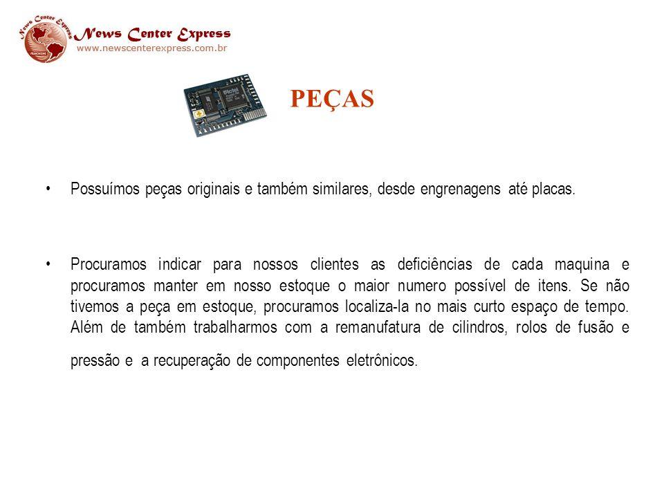 EQUIPAMENTOS Comercializamos equipamentos novos e usados, todos com garantia e procedência.