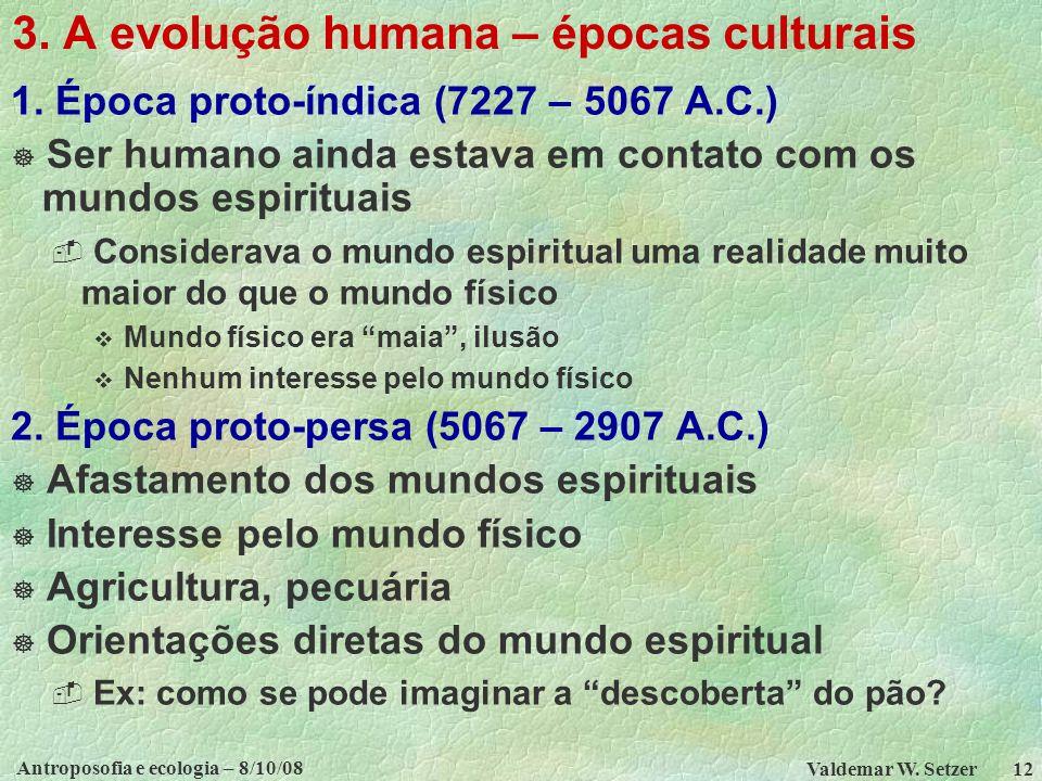 Antroposofia e ecologia – 8/10/08 Valdemar W.Setzer 12 3.