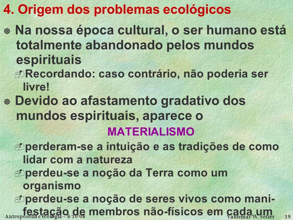 Antroposofia e ecologia – 8/10/08 Valdemar W.Setzer 19 4.