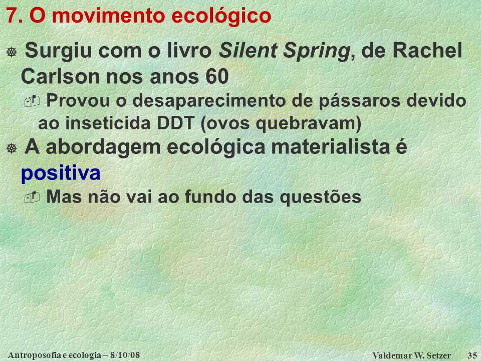 Antroposofia e ecologia – 8/10/08 Valdemar W.Setzer 35 7.