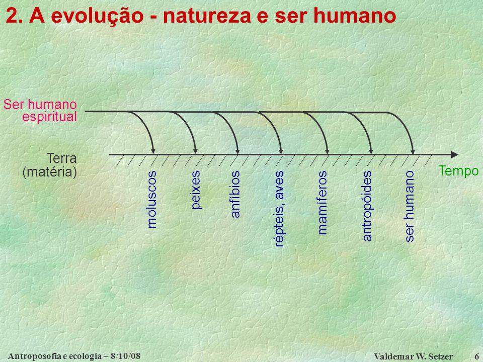 Antroposofia e ecologia – 8/10/08 Valdemar W.Setzer 6 2.