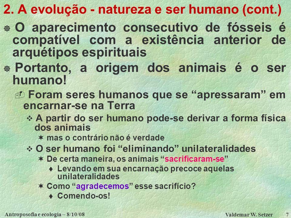 Antroposofia e ecologia – 8/10/08 Valdemar W.Setzer 7 2.