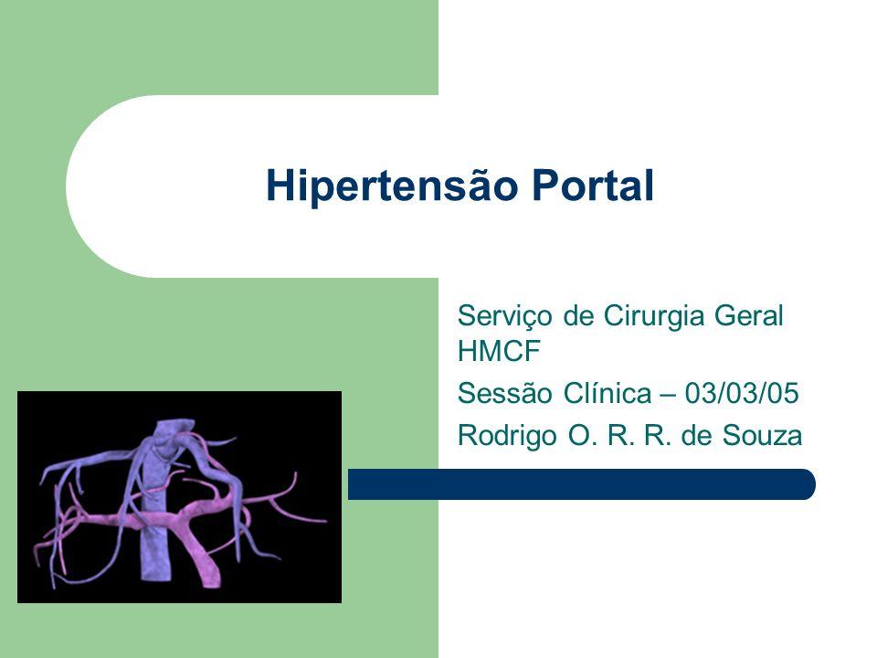 Hipertensão Portal Serviço de Cirurgia Geral HMCF Sessão Clínica – 03/03/05 Rodrigo O. R. R. de Souza