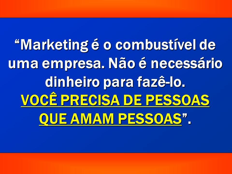 Marketing é o combustível de uma empresa.Não é necessário dinheiro para fazê-lo.