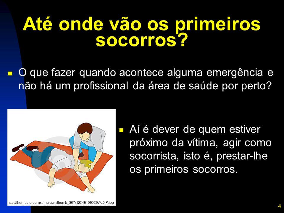 4 Até onde vão os primeiros socorros? O que fazer quando acontece alguma emergência e não há um profissional da área de saúde por perto? http://thumbs