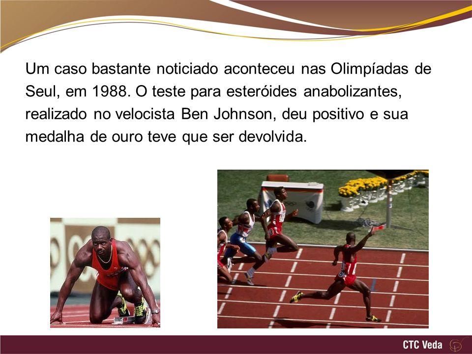 Um caso bastante noticiado aconteceu nas Olimpíadas de Seul, em 1988.