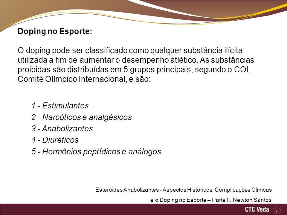 Doping no Esporte: O doping pode ser classificado como qualquer substância ilícita utilizada a fim de aumentar o desempenho atlético. As substâncias p