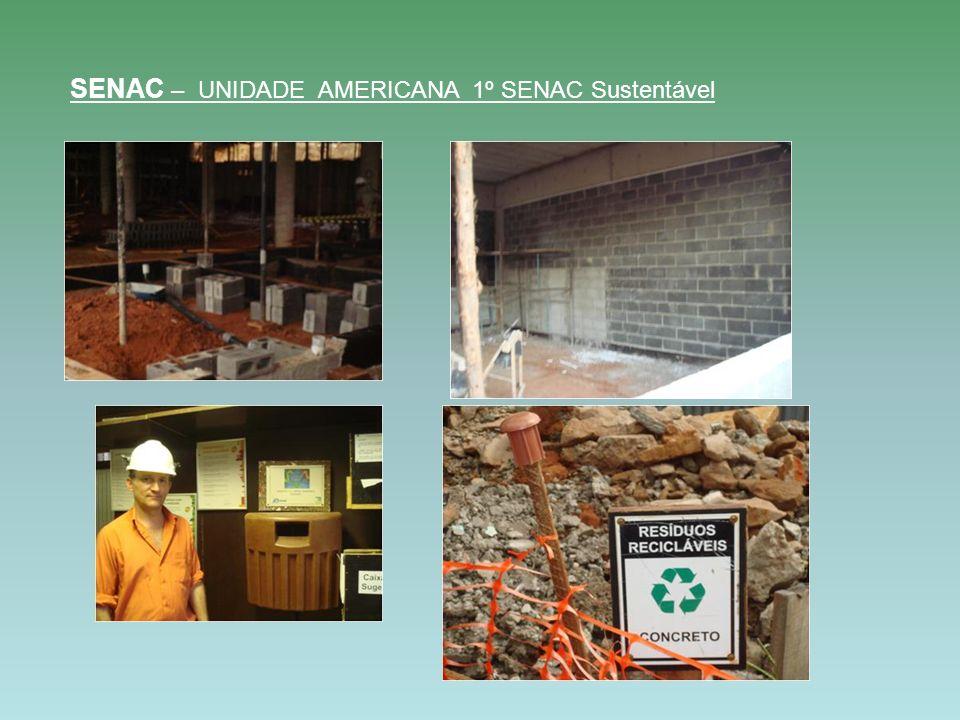 SENAC – UNIDADE AMERICANA 1º SENAC Sustentável