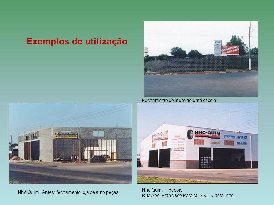 Fechamento do muro de uma escola Nhô Quim - Antes: fechamento loja de auto peças Nhô Quim – depois Rua Abel Francisco Pereira, 250 - Castelinho Exempl