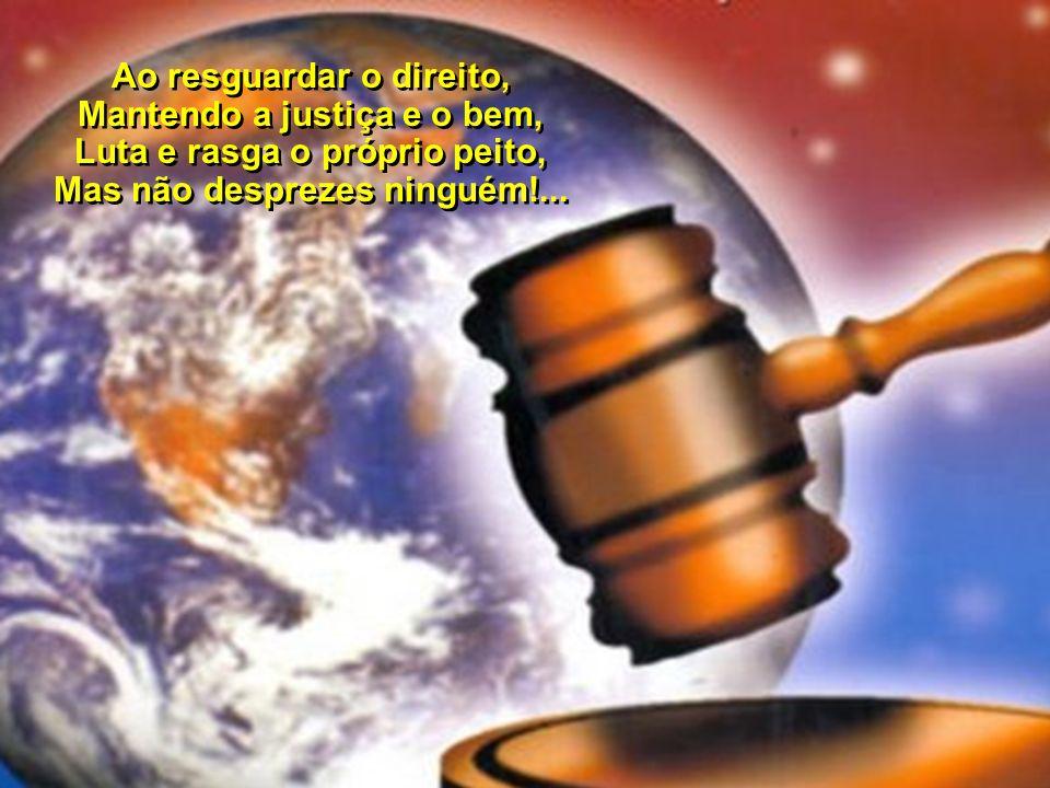 Hoje, que o mundo te espera, Para as leis da Nova Era, Por Brasília envolta em luz, Que em ti a vida se integre, De Manaus a Porto Alegre, No Espírito