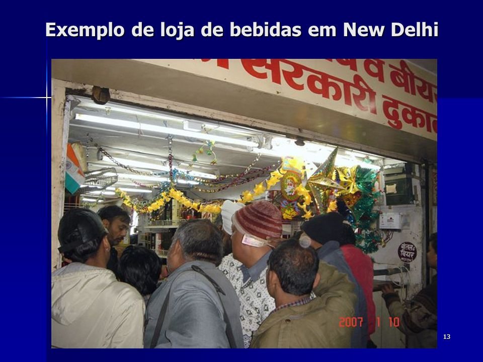 13 Exemplo de loja de bebidas em New Delhi