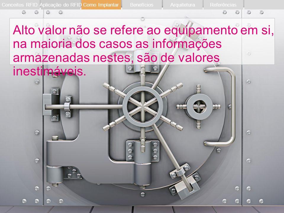 Evento RFIDSetembro 201123 Alto valor não se refere ao equipamento em si, na maioria dos casos as informações armazenadas nestes, são de valores inest
