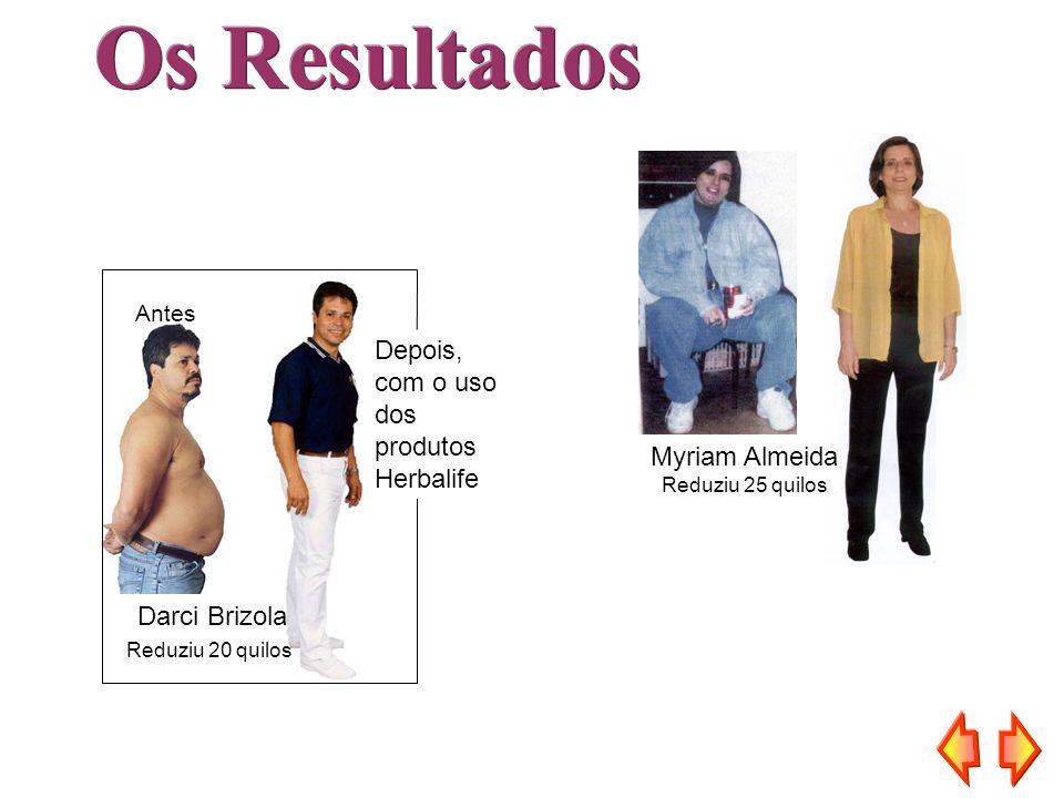 Antes Depois, com o uso dos produtos Herbalife Darci Brizola Reduziu 20 quilos Myriam Almeida Reduziu 25 quilos