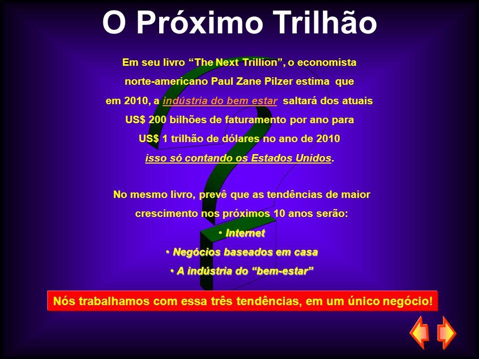 O Próximo Trilhão Em seu livro The Next Trillion, o economista norte-americano Paul Zane Pilzer estima que em 2010, a indústria do bem estar saltará d