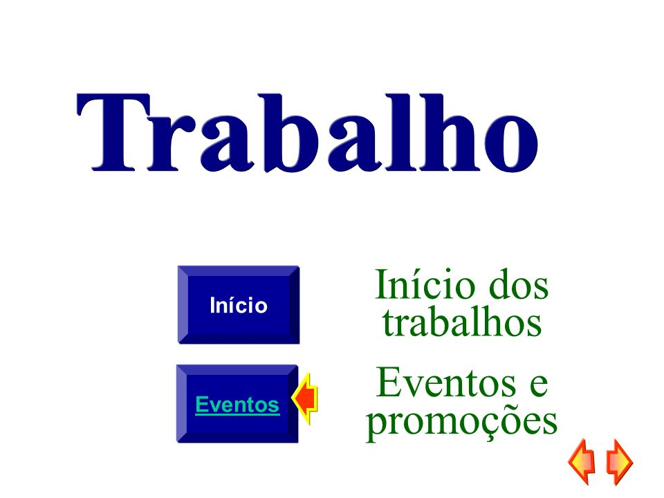 Início Início dos trabalhos Eventos Eventos e promoções