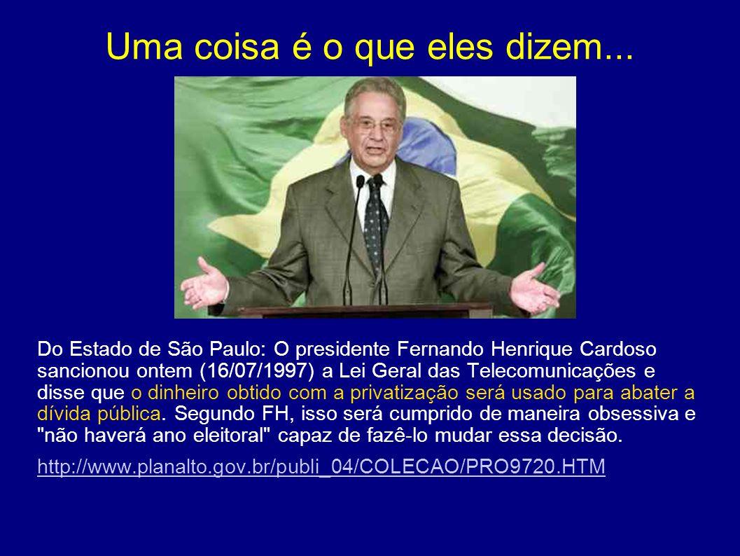 Serra e as privatizações Seria absurdo se Serra tentasse se disvincular do processo de privatização, já que ele esteve pessoalmente envolvido desde o primeiro leilão (Escelsa – 1995).