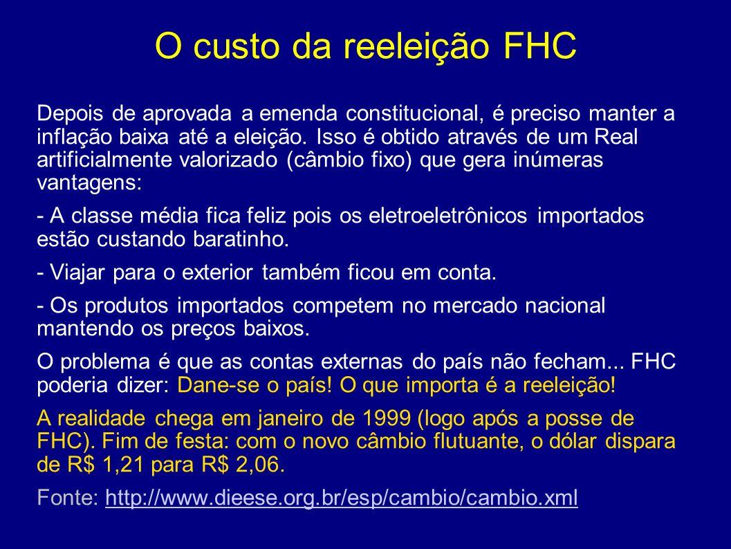 Política externa A política externa submissa de FHC aos EUA é notória.
