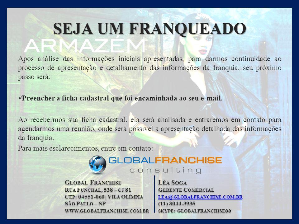 S HOW R OOM R UA P ROFESSOR J OÃO DE B RITO, 40 I TAIM B IBI | S ÃO P AULO – SP (11) 3596-3780 FRANQUIAS @ MODAARMAZEM.